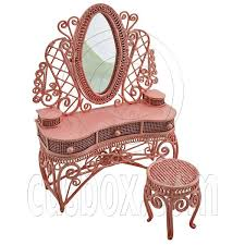 Kidkraft Deluxe Vanity And Chair Set by Pink Wire Vanity Mirror Chair 1 12 Doll U0027s House Dollhouse
