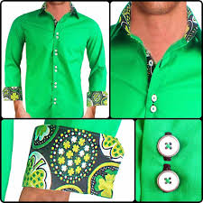 bright green designer dress shirts