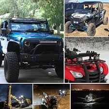 LED Pods, OFFROADTOWN 4'' 144W QUAD Row LED Light Bar OSRAM Work ... Backup Auxiliary Lighting Kit Installation Fits All Truck 10w Led Work Light Mini 12v 24v Car Auto Suv Atv 4wd Awd 4x4 Off Willpower Ip68 300w 1030v Waterproof Curved Led Bar 42inch Safego 2pcs Work Flood Spot Led Driving Light 94702 75 36w Offroad Led2520 Lm High Intensity Barspot Beaumount Truck Bars And Accsories Charlestown Co Mayo Xuanba 2pcs 4 Inch 25w Round For Avt Offroad Boat 6 18w Lamp For Motorcycle Tractor Road Styling Lights Bragan Bra4101538 Stainless Steel Sport Roll Rollbar 8 Spot 2 X 27w 48w Marine Rv