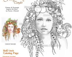 October Autumn Fairy Tangles Adult Printable Coloring Sheets By Norma Burnell Book Pages Fairies Squirrel