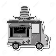 Hat Mexican Truck Delivery Fast Food Urban Business Icon. Flat ...