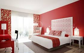 Lovely Red Bedroom Interior Design For Couples