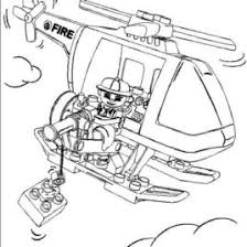 Lego Helicopter Coloring Page Archives