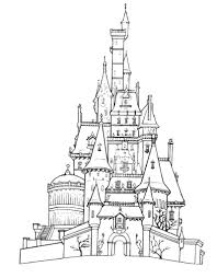 Frozen Ice Castle Coloring Page Pages Disney To Print