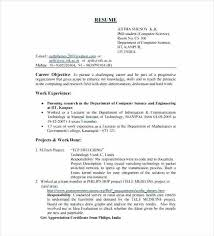 Computer Engineering Resume Sample For Freshers