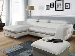 canapé d angle de qualité canapes d angle simili cuir blanc convertible boulogne of canape