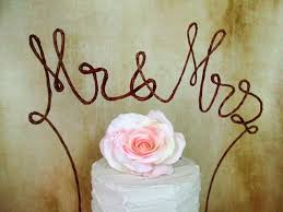 Rustic MR MRS Wedding Cake Topper Banner