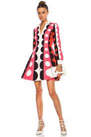 valentino crepe polka dot runway wool blend dress lyst