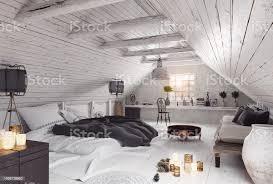 modern attic bedroom design stock photo image now
