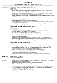 Director Marketing Operations Resume Samples   Velvet Jobs 12 Operations Associate Job Description Proposal Resume Examples And Samples Free Logistics Manager Template Mplates 2019 Download Executive Services Professional Food Templates To Showcase Example Vice President For An Candidate Retail How Draft A Sample Restaurant Fresh Educational Director Of 13 Transportation