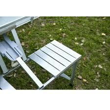 Aluminum Folding Picnic Table With 4 Seats - Moustache®
