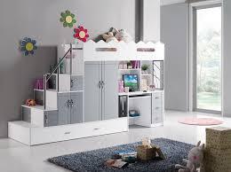 lit mezzanine bureau blanc lit mezzanine multifonction coloris blanc et gris chambres
