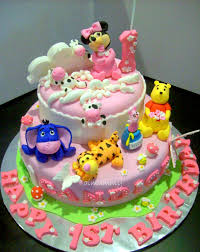 Attractive Inspiration 1st Baby Birthday Cake Designs And