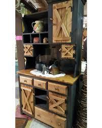 Primitive Furniture Rustic Farmhouse Kitchen Cabinet Hutch Stepback Country