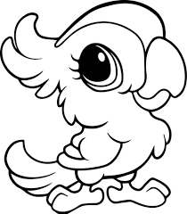 Cute Baby Jungle Animal Coloring Pages 3
