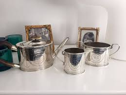The Smaller Milk And Sugar Holders Both Bear Same Hallmarks Around Top Rim Showing That They Were From England 1865 925 Silver Made By Henry