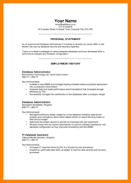 Personal Statement Examples For