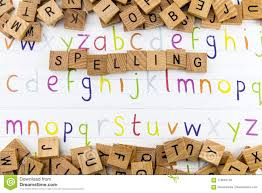 English Alphabet With Letters Words And Pictures Isolated On Violet