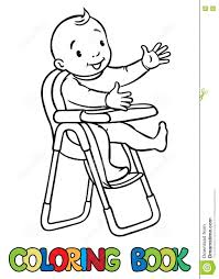 Funny Smiling Baby In The Highchair Stock Vector ...
