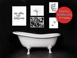 satz 5 drucke badezimmer wand kunst druckbare schwarz weiß rot pulver raum kunst badezimmer wanddruck set 8 x 10 a4 16 x 20