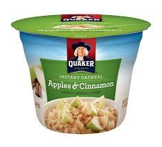 Green Mountain Pumpkin Spice K Cups Nutrition by Instant Quaker Oatmeal Cups Apples U0026 Cinnamon