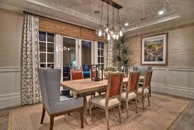Impressive Dining Room Fixtures 21 Cottage Style Light With Pottery Barn Rug Also Using Leather Wingback