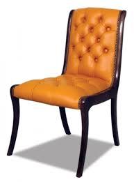 casa padrino echtleder esszimmerstuhl orange dunkelbraun 50 x 47 x h 95 cm luxus möbel