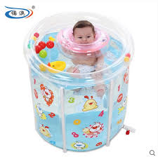 Inflatable Bathtub For Babies by Size 73 75cm Water Thickening Folding Tub Inflatable Bathtub