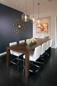Modern White Counters Contemporary Dining Room