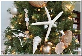 Seashell Christmas Tree Garland by Coastal Christmas Tree Sand And Sisal