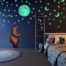 100Pcs1Pcs Glow In The Dark SelfAdhesive Cute 3D Star Moon Wall