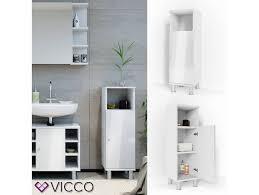 vicco badschrank fynn 95 x 30 cm weiß hochglanz
