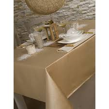 nappe en tissu carrée 150x150 cm kimberlay doré pas cher