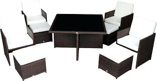 Outsunny Patio Furniture 9 Piece Outdoor Dining Set W Stowaway