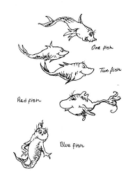 Dr Seuss Fish Coloring Pages