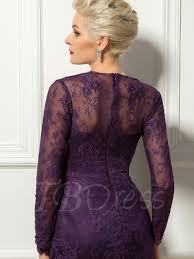 lace long sleeves short mini length sheath cocktail dress