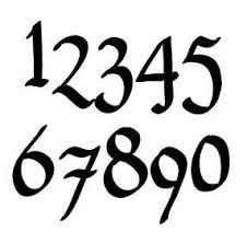 Pennybridge Font Rustic House Number Or Letter Set Of 1