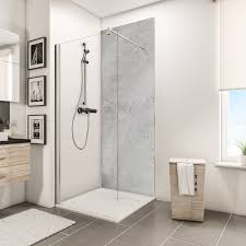 schulte duschrückwand decodesign hochglanz stein grau hell 150 x 255 cm