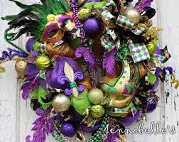 Burlap Mardi Gras Door Decorations by Mardi Gras Wreath Etsy