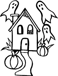 Ghost Coloring Pages In Haunted House