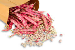 Fresh Red Beans In A Paper Bag Stock Photography