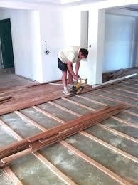 How To Install Plywood Subfloor On Concrete Slab Over Floor Installing Engineered Wood