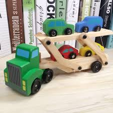 100 Loader Truck Toy Vehicle Cars Trailer Excavator Playsets Kids Wooden