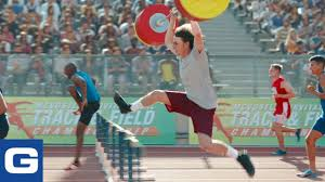 100 Geico Commercial Truck Insurance Weightlifter Wins Track Race GEICO