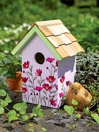 Decorative Birdhouse Welcomes Songbirds Chickadees Nuthatches And Finches