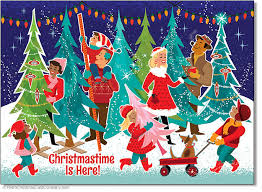 Christmas Tree Shopping Cards Package Of 8