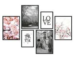 details zu bilderreich premium poster set deko bilder wohnzimmer modern 6er wand bild
