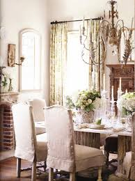 Shabby Chic Dining Room Chair Covers by Elegant My Style Pinterest Chair Slipcovers Room And