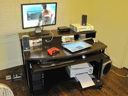 Small Glass And Metal Computer Desk by Helpful Staples Computer Desk To Ease Working Time Anywhere