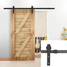 Amazon.com: U-MAX 8 FT Sliding Barn Wood Door Basic Sliding Track ... Rustic Sliding Barn Door Hdware With Wooden Piece And Old Custom Interior Western Track Installation By Diy Wilker Dos 89 Best Doors Images On Pinterest Barn Doors Antique Industrial Porter Wood Horse Ideas Overlapping For Up To 8 Openings Knobs The Home Depot Everbilt Dark Oilrubbed Bronze Decorative Shop At Lowescom Bypass Closet